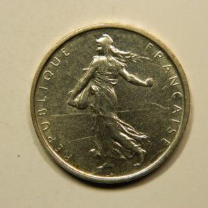 5 Francs Semeuse 1962 SUP Argent 835°/°° EB90902