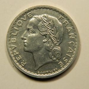 5 Francs Lavrillier 1947B 9 ouvert SPL EB90903