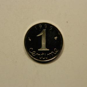1 Centime 5ème République 1999 BE 10000 Exemplaires FDC EB90904