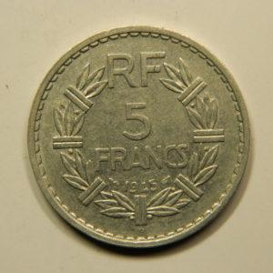 5 Francs Lavrillier 1945B TTB EB90906