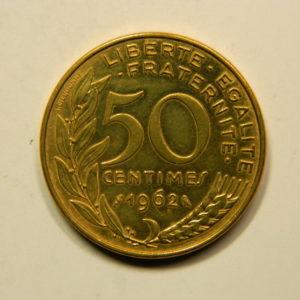 50 Centimes Marianne 1962 3plis SUP EB90908