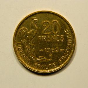 20 Francs Guiraud 1952B SPL EB90911