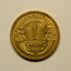 1 Franc Morlon 1941 FDC EB90924