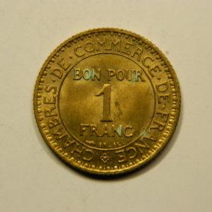 1 Franc Chambre de commerce 1922 SUP/SPL EB90926