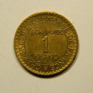 1 Franc Chambre de commerce 1922 SPL EB90927