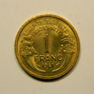 1 Franc Morlon 1941 FDC EB90934