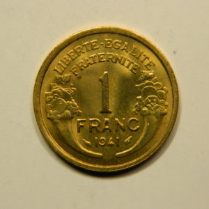 1 Franc Morlon 1941 FDC EB90936