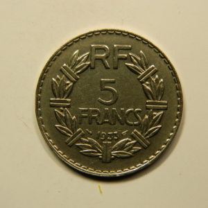5 Francs Lavrillier SUP+ Nickel 1933 EB90938