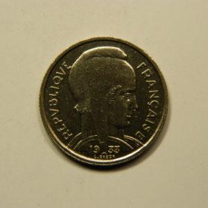 5 Francs Bazor 1933 Espace entre L et Bazor SUP EB90940