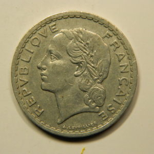 5 Francs Lavrillier 1948B 9 ouvert TB+RARE EB90942