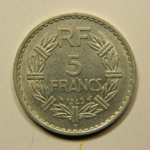 5 Francs Lavrillier 1945B TTB EB90943