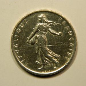 5 Francs Semeuse 1960 FDC Argent 835°/°° EB90949