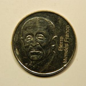 5 Francs Pierre Mendes France 1992 SPL EB90955