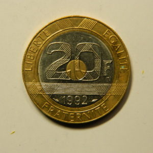 20 Francs Mont St Michel 1992 SUP V ouvert EB90962