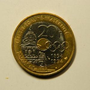 20 Francs Pierre de Coubertin 1994 SUP EB90963