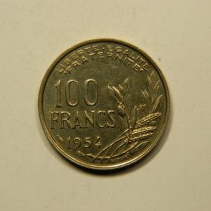 100 Francs Cochet 1954 SPL EB90964