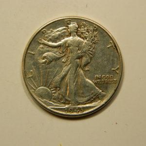 ½ Dollar Walking Liberty 1943 TTB Etats-Unis Argent 900 °/°° EB90970