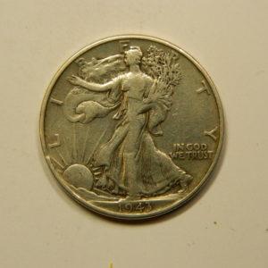½ Dollar Walking Liberty 1943 TTB+ Etats-Unis Argent 900 °/°° EB90971