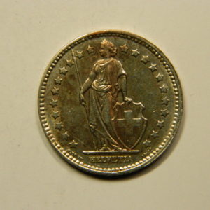 1 Franc Suisse 1957B SUP Argent 835 °/°°  EB90995