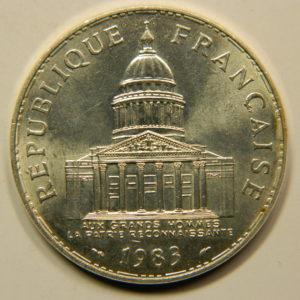 100 FRANCS Panthéon 1983 SPL Argent 900°/°° EB91004