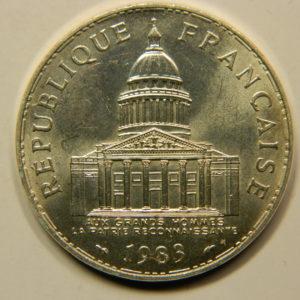 100 FRANCS Panthéon 1983 SUP Argent 900°/°° EB91005