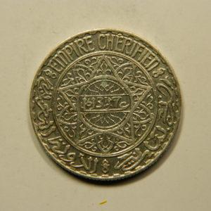 10 Francs 1347H-1928 SUP Mohamed V Argent 680°/°° MAROC EB91036