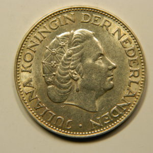 2 1/2 Gulden Juliana 1962 SUP++ Pays Bas Argent 720 °/°° EB91043