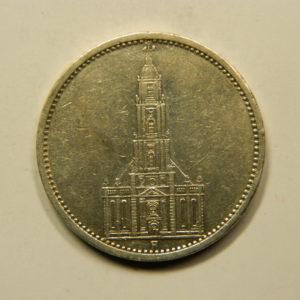 5 Reichsmark 1934A TTB+ Allemagne Argent 900 °/°°  EB91044