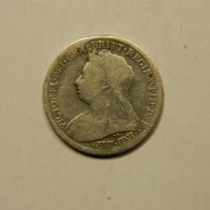 6 Pence Victoria1899 TB Argent 925°/°° United kingdom Angleterre EB91046