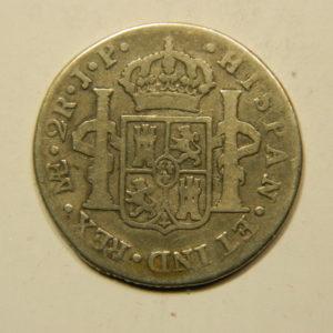 2 Réales Carlos III 1806ME TB+ Argent 896°/°° Mexique EB91047