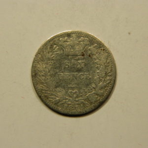 6 Pence Victoria 1874 TB Angleterre Argent 925 °/°° EB91056