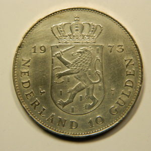 10 Gulden Juliana 1973 SUP+ Pays Bas Argent 720 °/°° EB91064