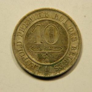 10 Centimes Léopold 1er 1861 TB Belgique EB91076