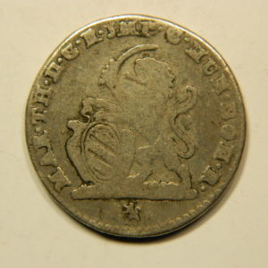 2 Escalins Marie Thérèse 1752 Bruges TB Belgique Argent   EB91078