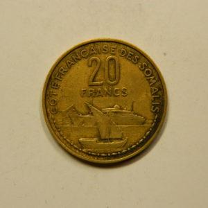 20 Francs Cote Française Des Somalis 1952 TTB EB91082