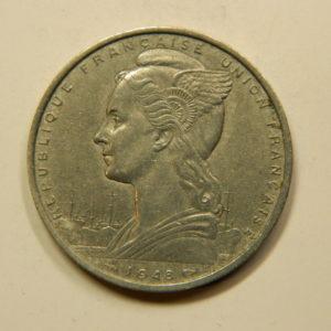 5 Francs Cote Française Des Somalis 1948 SUP EB91085