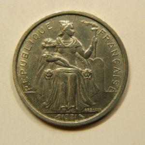 2 Francs Nouvelle Calédonie 1971 SUP+ EB91088