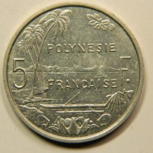 5 Francs Océanie Polynésie Française 1993 SUP EB91090