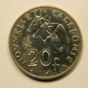 20 Francs Nouvelle Calédonie 1991 SPL EB91092