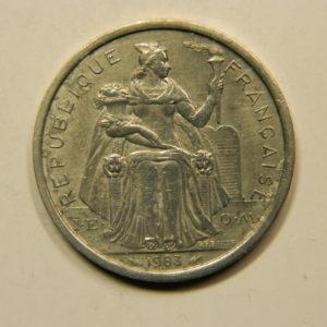 2 Francs Nouvelle Calédonie 1983 SUP EB91093