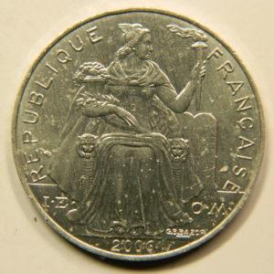 5 Francs Océanie Polynésie Française 2006 SPL EB91096
