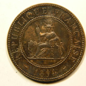 1 Cent Indochine Française 1894A SPL RARE EB91100