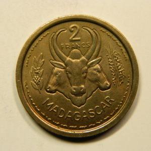 2 Francs Madagascar Union Française1948 ESSAI FDC EB91103