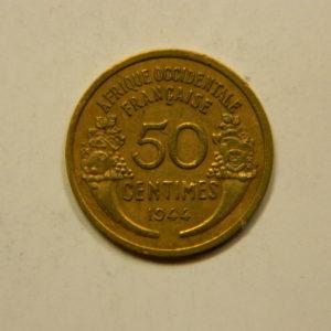 50 Centimes Afrique Occidentale Française 1944 SUP EB91107