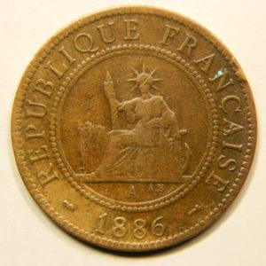 1 Cent Indochine Française 1886 TTB  EB91108