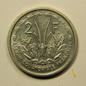 2 Francs Afrique Equatoriale Fr1948 SPL EB91122