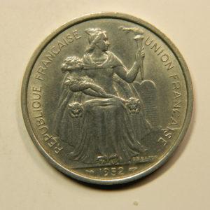 5 Francs Nouvelle Calédonie 1952 SPL EB91125