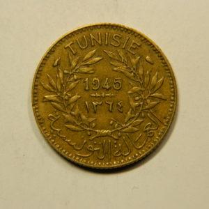 1 Franc (Bon Pour) 1945 SUP TUNISIE EB91127