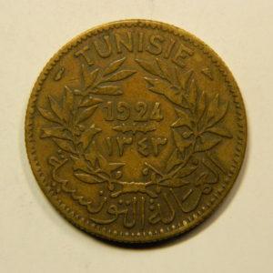 2 Francs (Bon Pour) 1924 TTB TUNISIE EB91128