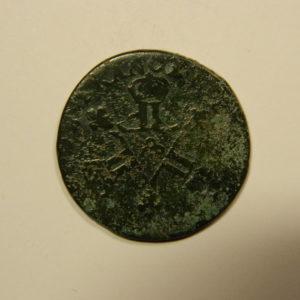 6 Deniers dits « Dardenne » Louis XIV 1711& Aix TB EB91131